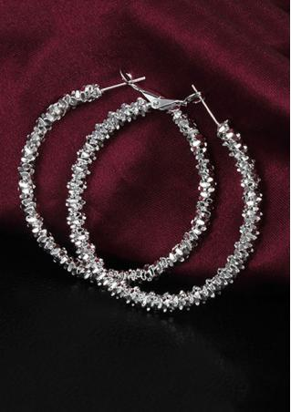 Alloy Fashion Hoop Earrings