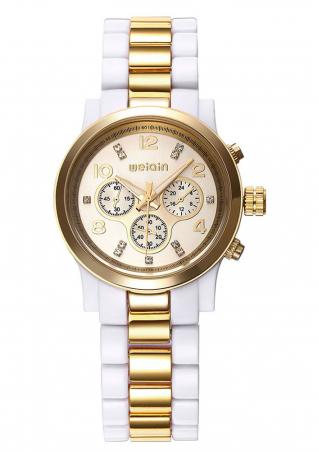 Alloy Round Fashion Quartz Wrist Watch