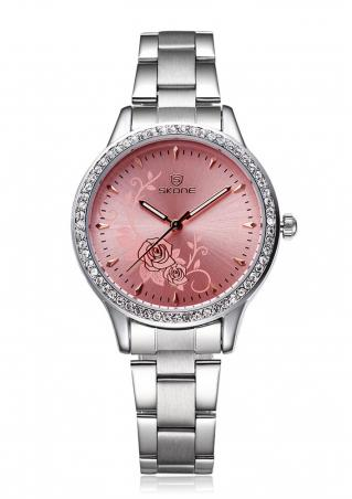 Peony Alloy Quartz Fashion Wrist Watch