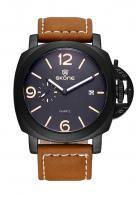 PU Leather Band Alloy Calendar Wrist Watch