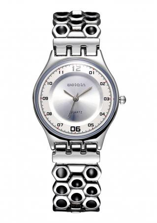 Number Alloy Analog Quartz Wrist Watch