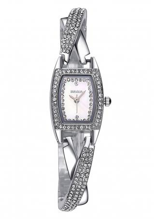 Rhinestone Rectangle Luxury Chain Wrist Watch