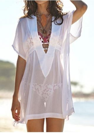 Solid See-Through Cover Up Without Necklace