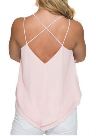 Solid Layered V-Neck Fashion Camisole