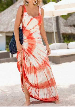 Printed Sleeveless Fashion Maxi Dress