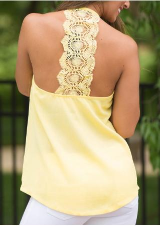 Solid Lace Backless Fashion Camisole