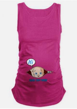 Printed Maternity Fashion Tank