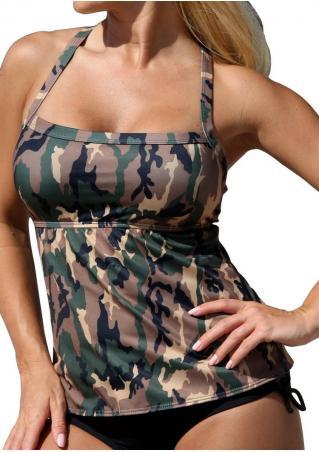 Camouflage Printed Sexy Tankini