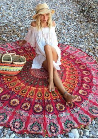 Printed Round Beach Blanket