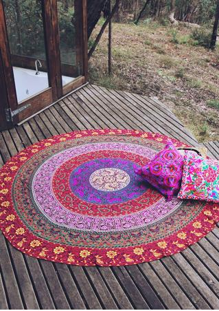 Printed Pattern Round Beach Blanket