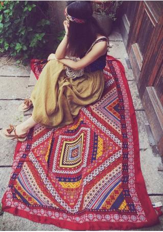 Ethnic Printed Rectangle Beach Blanket