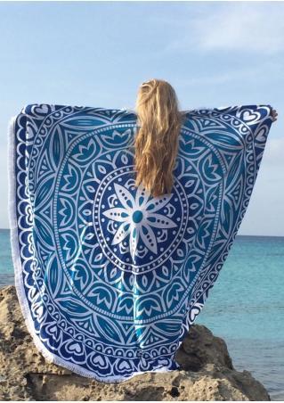 Mandala Tassel Round Beach Blanket