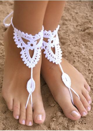 Hollow Out Crochet Barefoot Sandals