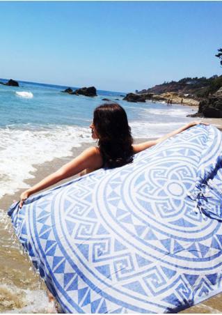 Mandala Tassel Rectangle Beach Blanket