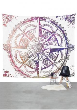 Mandala Compass Square Tapestry