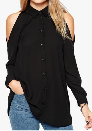Solid Off Shoulder Fashion Shirt