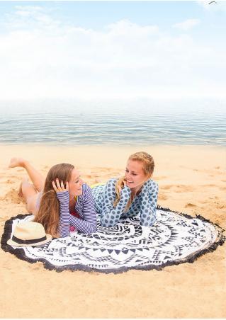 Mandala Geometric Round Beach Blanket