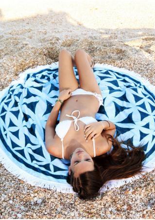 Mandala Sacred Geometry Round Beach Blanket