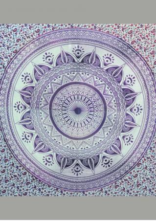 Mandala Printed Square Tapestry