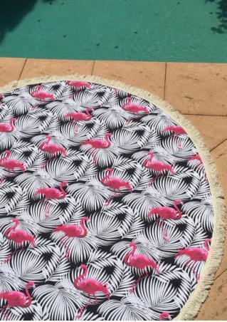 Swan Printed Round Beach Blanket