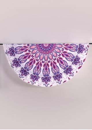 Mandala Printed Round Beach Blanket