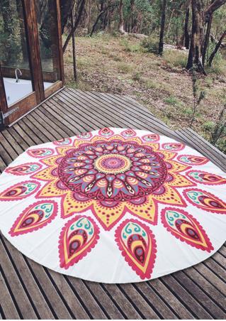 Mandala Pattern Round Beach Blanket