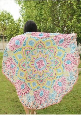 Mandala Flower Lace Round Blanket