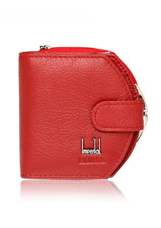 Leather Hasp Mini Clutch Wallet