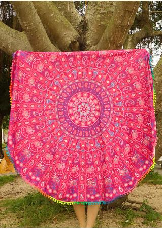 Mandala Paisley Round Beach Blanket