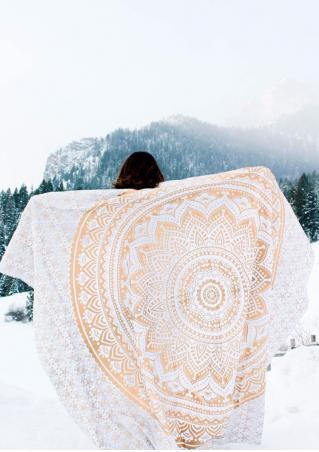 Mandala Printed Rectangle Beach Blanket