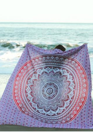 Mandala Pattern Rectangle Beach Blanket