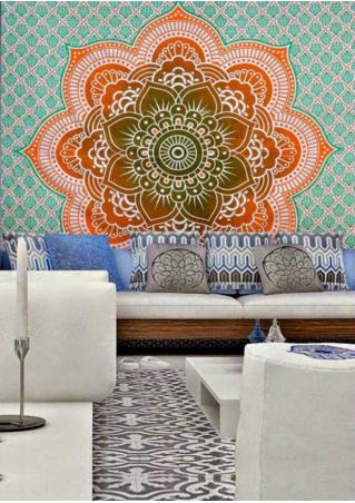 Lotus Flower Rectangle Tapestry
