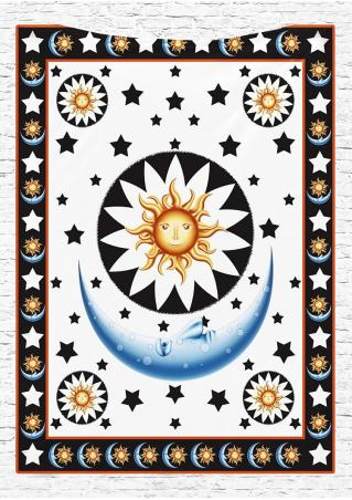 Star Moon Printed Rectangle Beach Blanket