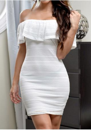Solid Slash Neck Bodycon Mini Dress Without Necklace