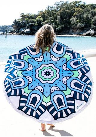 Multicolor Printed Round Beach Blanket