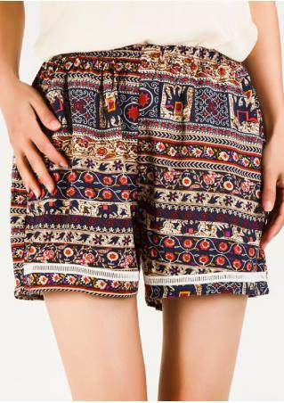 Ethnic Printed Casual Shorts