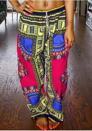 Ethnic Printed Wide Leg Pants