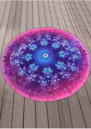 Multicolor Round Beach Blanket