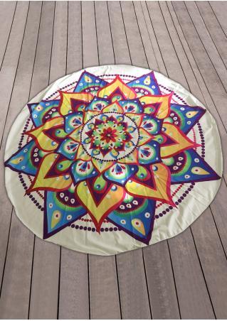 Mandala Printed Boho Beach Blanket