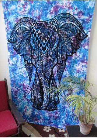 Mandala Elephant Rectangle Tapestry