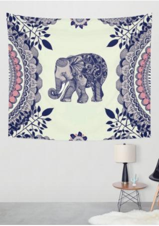 Elephant Printed Rectangle Tapestry