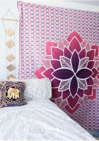 Mandala Lotus Printed Rectangle Tapestry