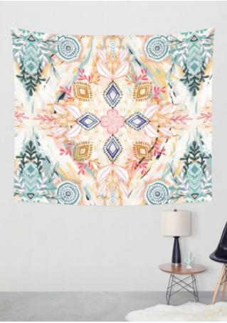Multicolor Printed Rectangle Tapestry