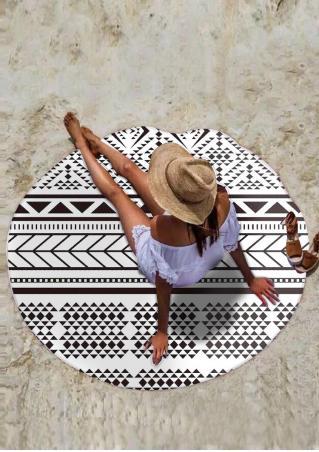 Geometric Round Beach Blanket