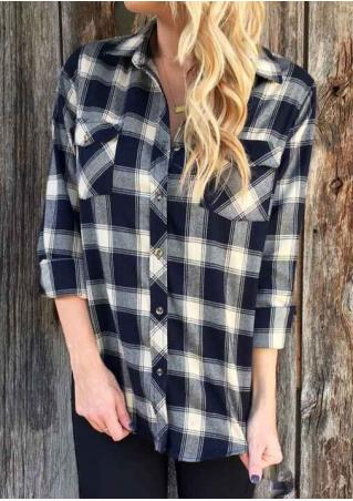Plaid Pocket Long Sleeve Shirt
