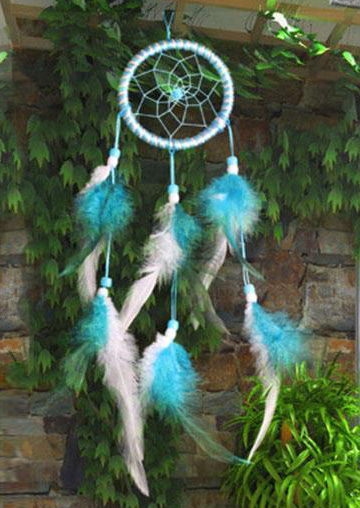 Two-Color Feather Dream Catcher Hanging Decoration
