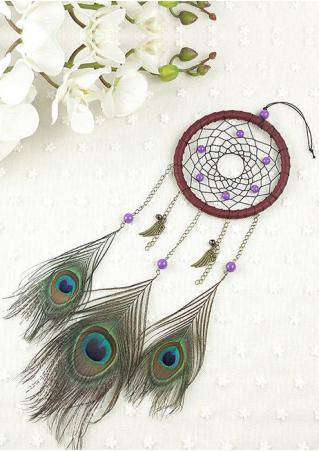 Handmade Peacock Feather Dream Catcher Hanging Decoration