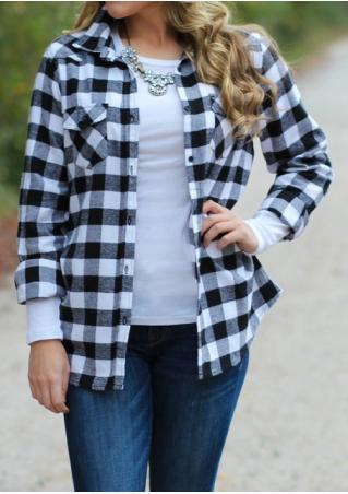 Plaid Pocket Shirt Without Necklace