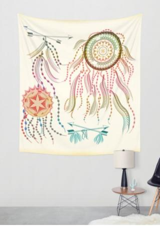 Multicolor Arrow Dream Catcher Rectangle Tapestry