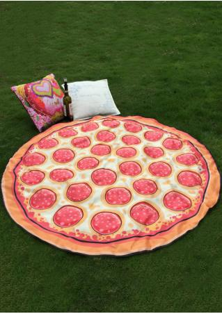 Pizza Donut Printed Beach Blanket